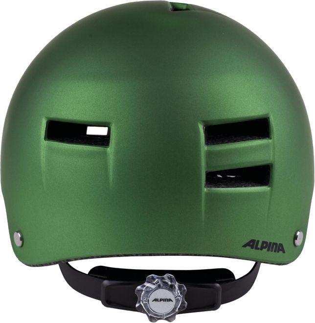 Alpina Fahrrad Helm Airtime - green metalic – Bild 2