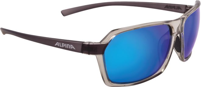 Alpina Sportbrille Finety P - transparent grey Polarisation mirror blue