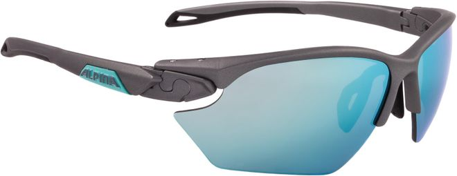 Alpina Sportbrille Twist Five HR S CM+ - tin matt emerald Ceramic mirror+ emerald