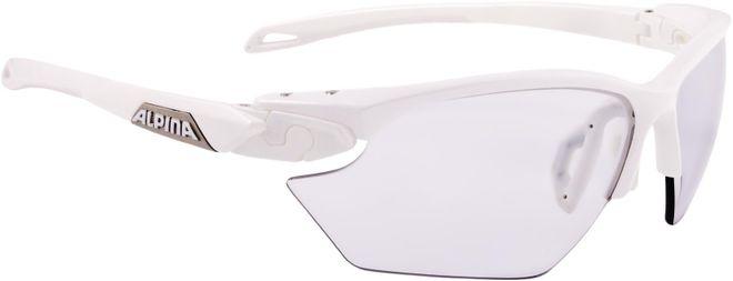 Alpina Sportbrille Twist Five HR S VL+ - white Varioflex+ black
