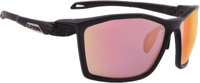 Alpina Sportbrille Twist Five QVM+ - black matt Quattro/Variofl. mirror+ rainbow