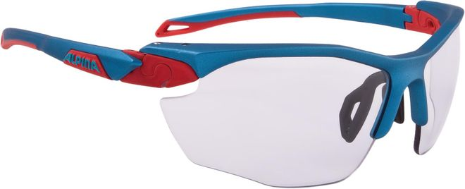 Alpina Sportbrille Twist Five HR VL+ - blue red Varioflex+ black