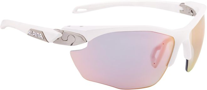 Alpina Sportbrille Twist Five HR QVM+ - white matt silver Quattro/Variofl. mirror+ rainbow