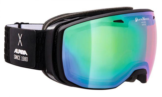 Alpina Skibrille Estetica - black matt QuarttroVarioflexgren S2 sph