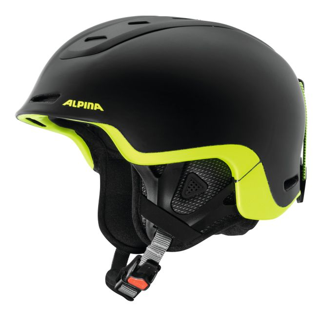 Alpina Skihelm Spine - black neon yellow matt