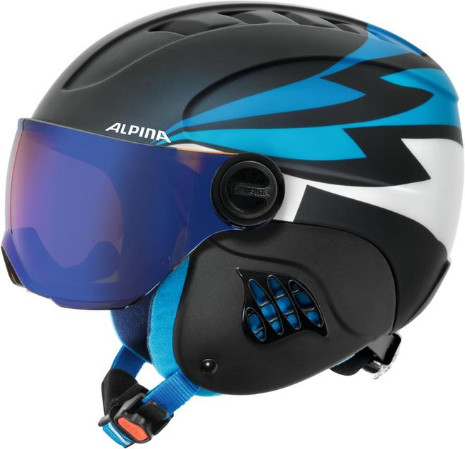 Alpina Skihelm Jugend Carat LE Visor HM  - nightblue denim matt – Bild 1