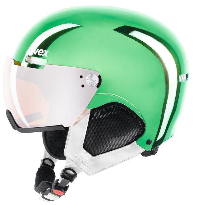 Uvex Skihelm hlmt 500 - visor chrome LTD chrome green