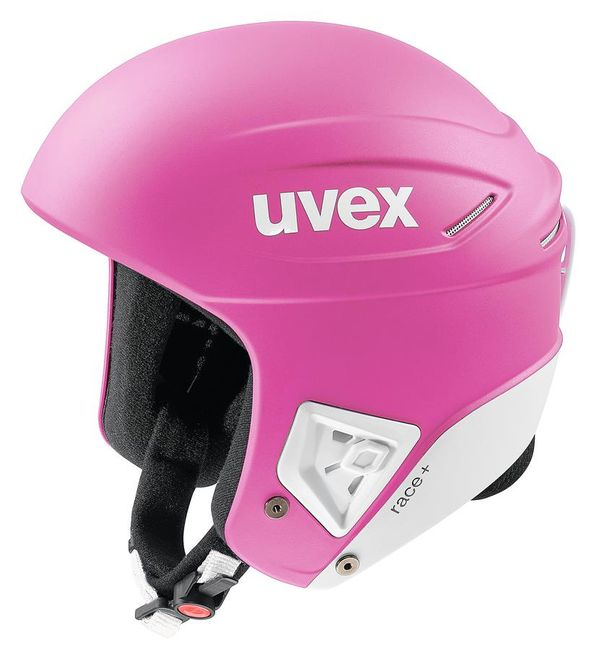 Uvex Skihelm Race+ - pink white matt – Bild 2