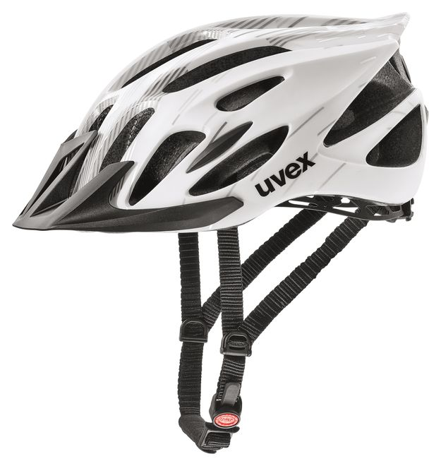 Uvex flash Fahrradhelm, white-black