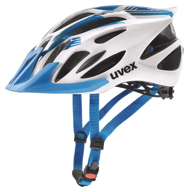 Uvex flash Fahrradhelm, white-blue