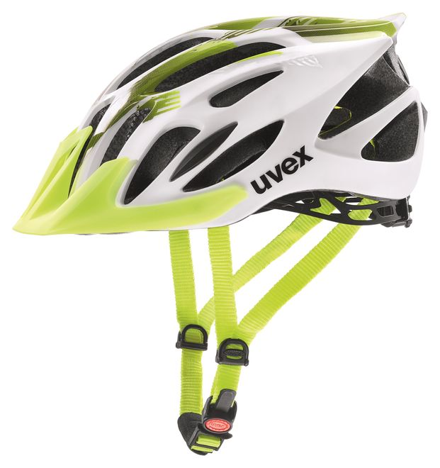Uvex flash Fahrradhelm, white-lime