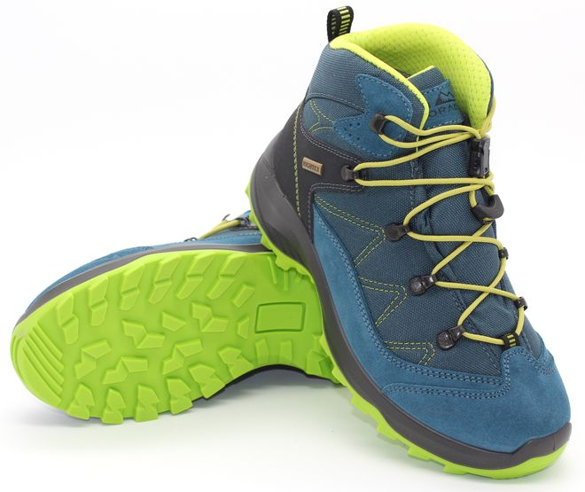 High Colorado Vilan Mid Junior HT Trekkingschuh - blau-grün – Bild 1