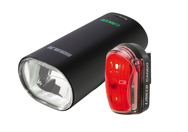 Litecco Fahrrad LED Beleuchtungs-Set Highlux.30 & Cando - schwarz