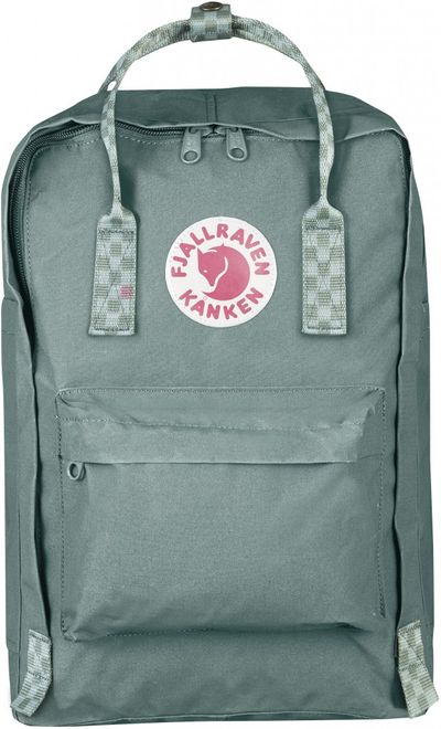 Fjällräven Kånken Laptop 15inch - Frost Green-Chess Pattern