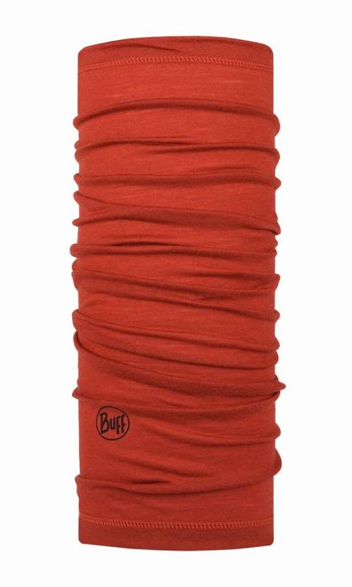 Buff Lightweight Merino Wool Multifunktionstuch - solid rusty
