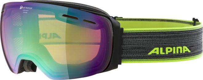 Alpina Granby QM Skibrille - black matt QUATTROFLEX-mirror green – Bild 1