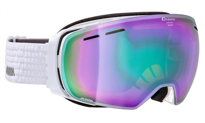 Alpina Granby MM Skibrille - white Mirror Emerald