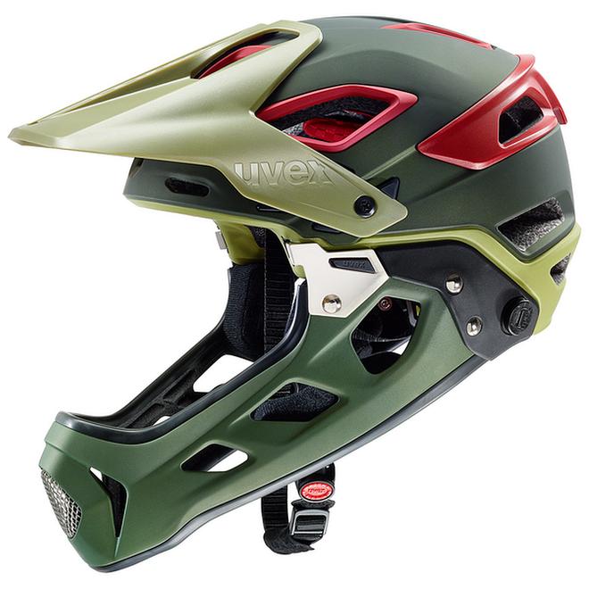 Uvex jakkyl hde Downhill Helm - olive red mat – Bild 1