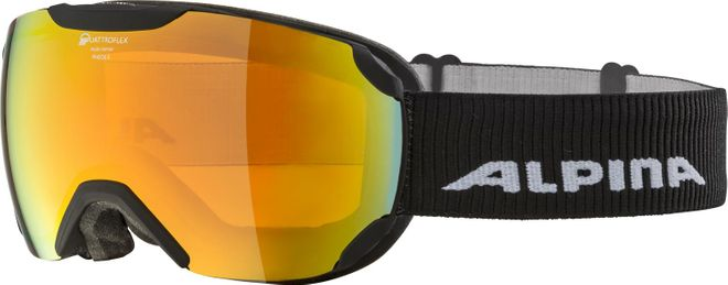 Alpina Skibrille Pheos S QMM - black matt Mirror red – Bild 1