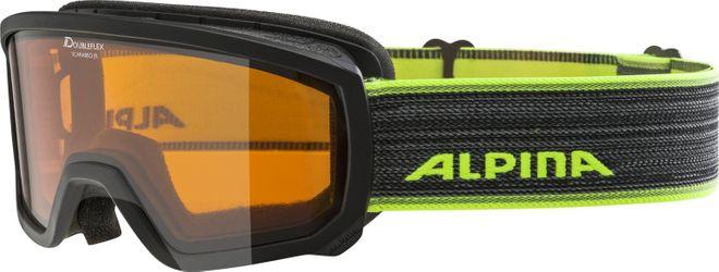 Alpina Skibrille SCARABEO JR. DH - black neon DOUBLEFLEX hicon – Bild 1