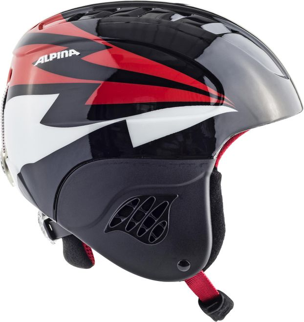 Alpina Skihelm Carat Junior - black red – Bild 2