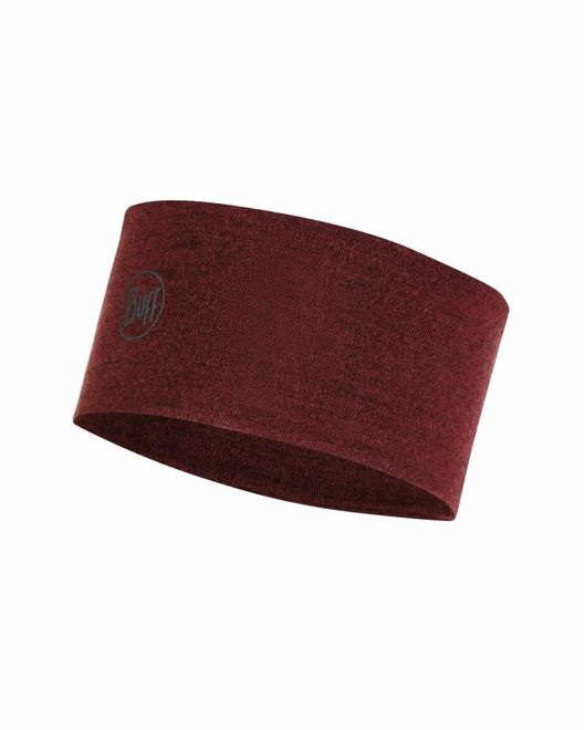 Buff 2 Layers Midweight Merino Wool Headband - wine melange