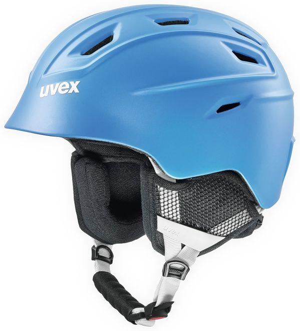 Uvex fierce Skihelm - blue met mat – Bild 1