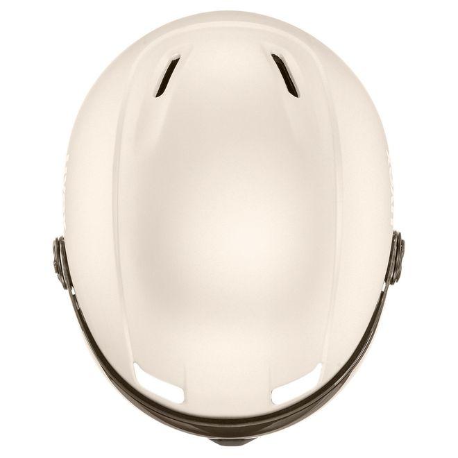 Uvex hlmt 400 visor style Skihelm - prosecco met mat – Bild 4