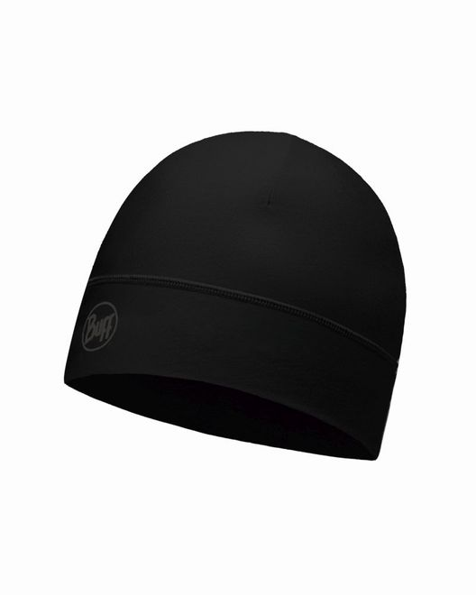 Buff Microfiber 1 Layer Hat - solid black