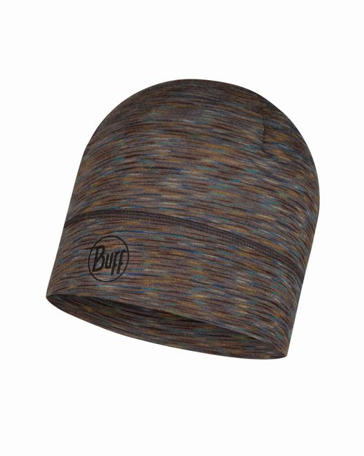 Buff Lightweight Merino Wool Hat - fossil multi stripes