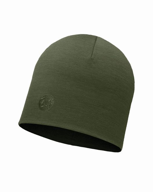 Buff Heavyweight Merino Wool Hat - solid forest night