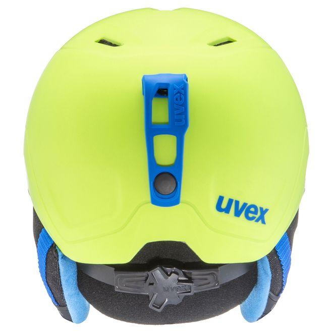Uvex manic pro Skihelm - lime-blue met mat – Bild 3