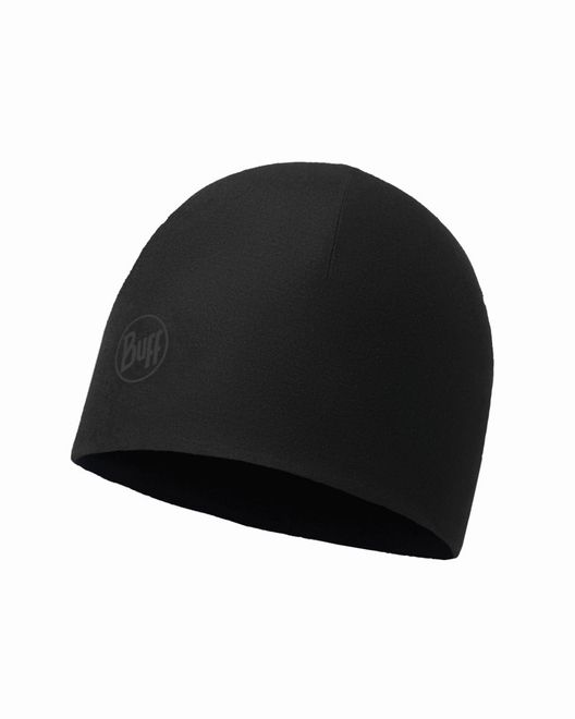 Buff Microfiber & Polar Hat - solid black - black