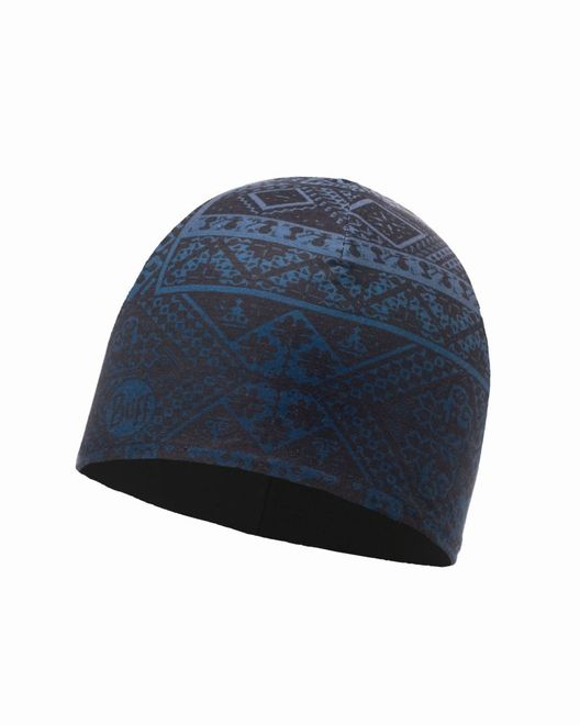 Buff Microfiber & Polar Hat - eskor dark denim - black