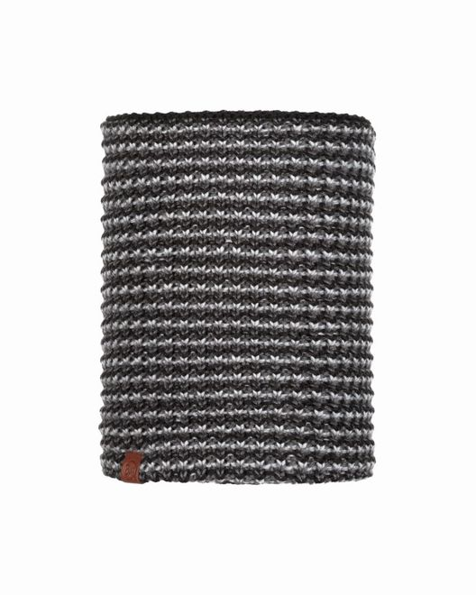 Buff Neckwarmer Knitted & Polar Fleece Dana - graphite