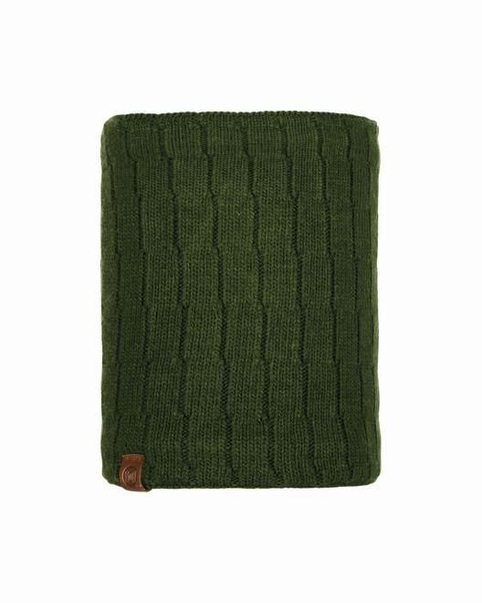 Buff Neckwarmer Knitted & Polar Fleece Jeroen - military