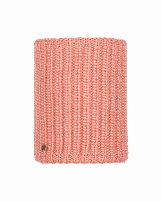Buff Chic Neckwarmer Knitted & Polar Fleece Dania - peach