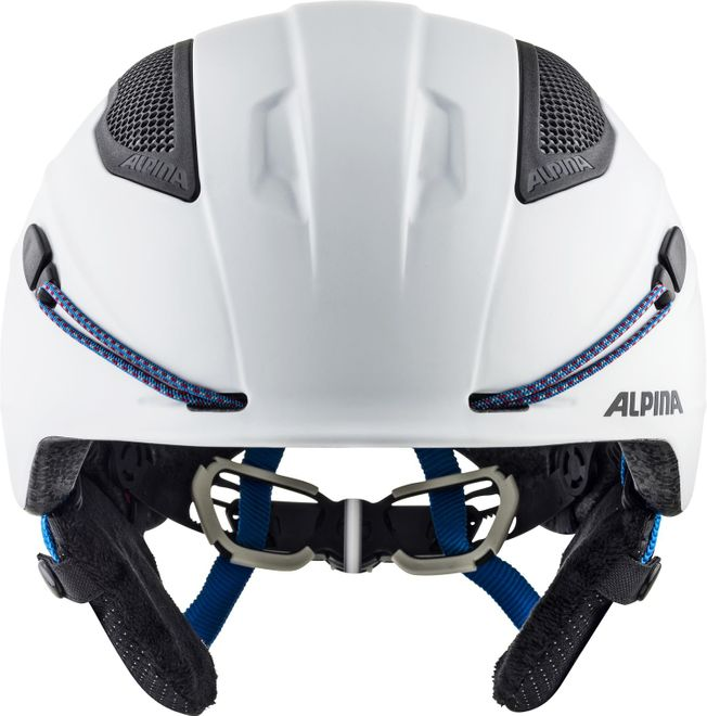 Alpina Skihelm Snow Tour - white-blue matt – Bild 3