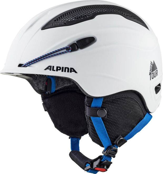 Alpina Skihelm Snow Tour - white-blue matt – Bild 1