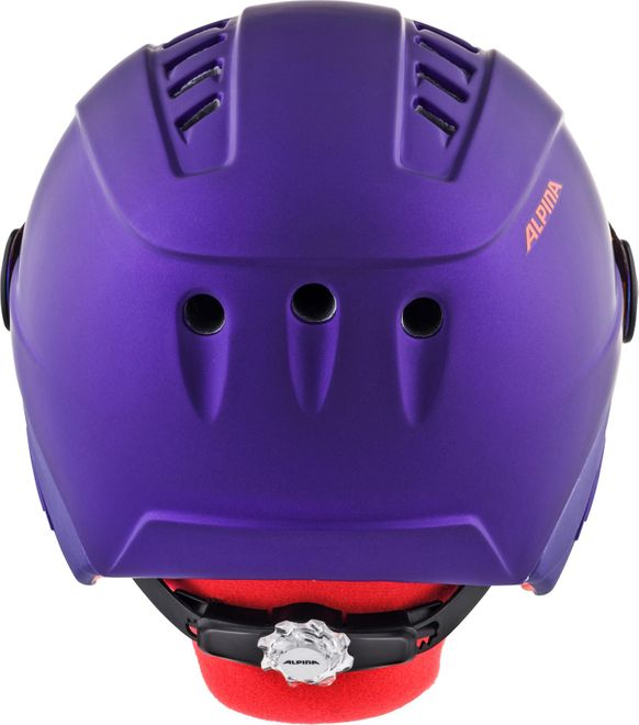 Alpina Skihelm Jugend Carat LE Visor HM  - royal-purple matt – Bild 3