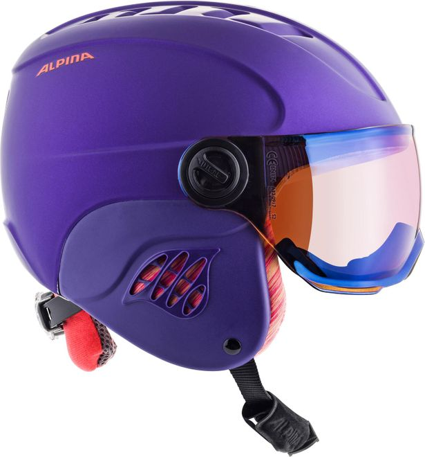 Alpina Skihelm Jugend Carat LE Visor HM  - royal-purple matt – Bild 4
