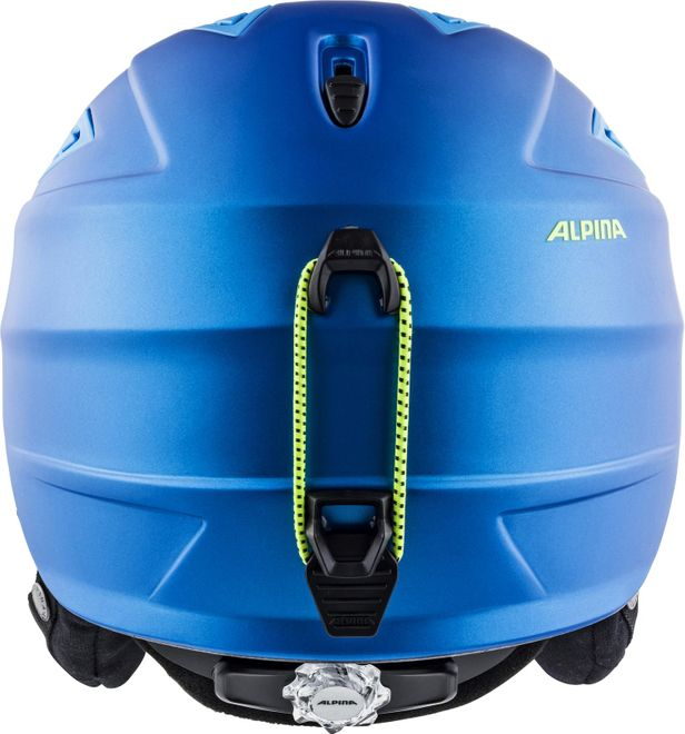 Alpina Skihelm Grap 2.0 - blue-neon-yellow matt – Bild 3