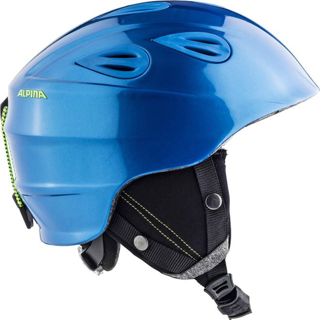 Alpina Grap 2.0 L.E. Skihelm - blue neon yellow – Bild 1