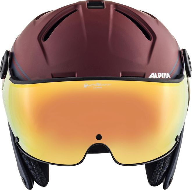 Alpina Attelas Visor QVMM Skihelm - nightblue-bordeaux matt – Bild 4