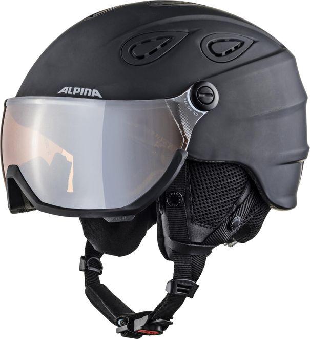 Alpina Skihelm Grap Visor 2.0 HM - black matt – Bild 1