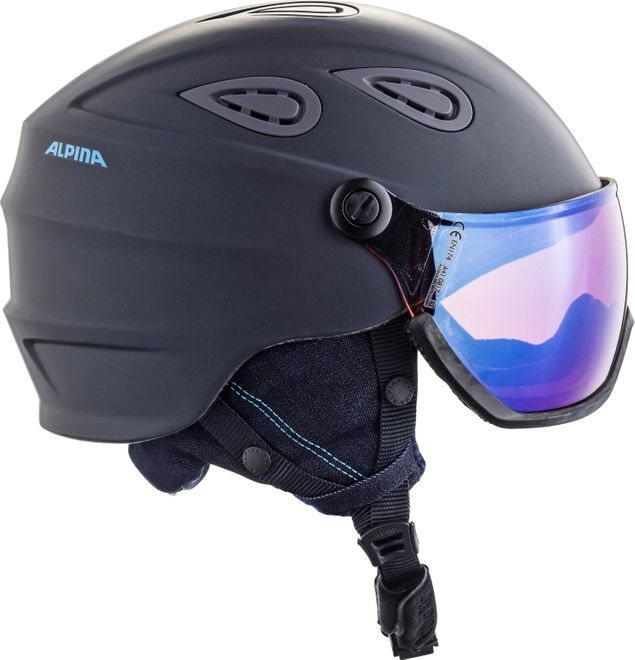 Alpina Skihelm Grap Visor 2.0 HM - nightblue-denim matt – Bild 2