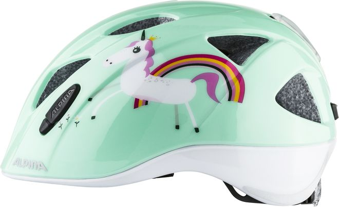 Alpina Ximo Flash Kinder Fahrradhelm - mint unicorn – Bild 1