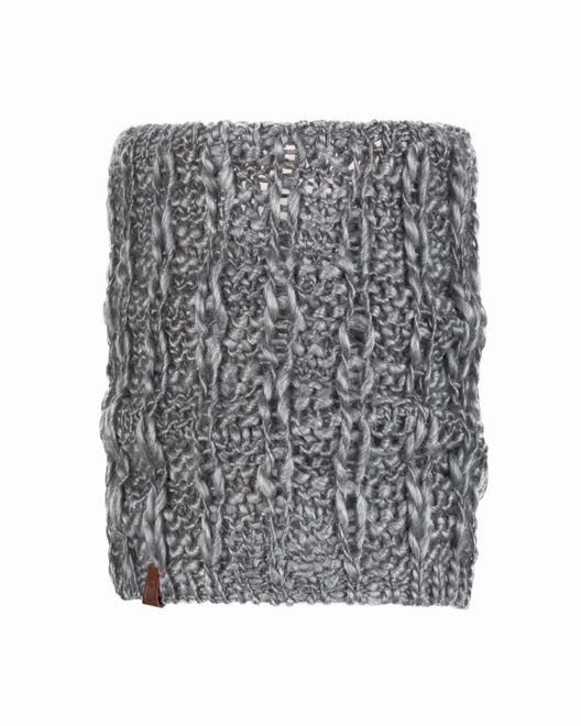 Buff Knitted Comfort Neckwarmer Liv - pebble grey
