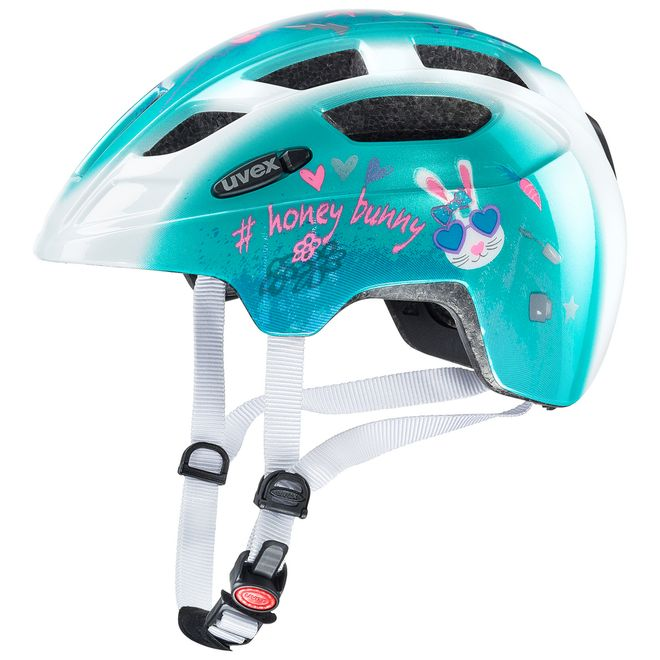 Uvex finale junior LED Fahrrad MTB Helm - honey bunny – Bild 1