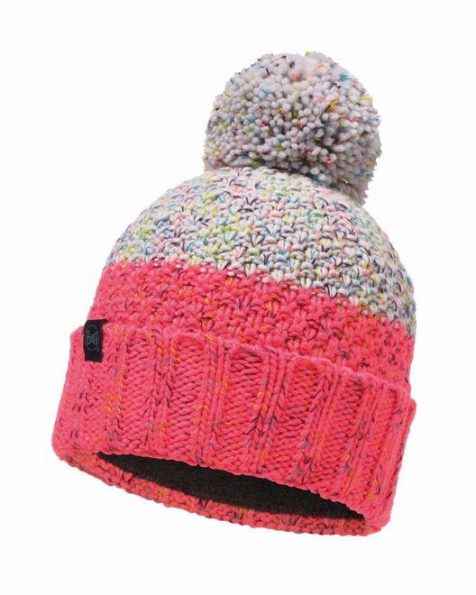 Buff Knitted & Polar Fleece Hat Janna - cloud